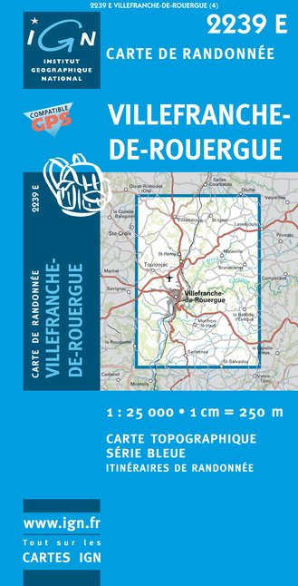 12 carte ign de randonn e au format 25 000 du d partement for Garage auto villefranche de rouergue