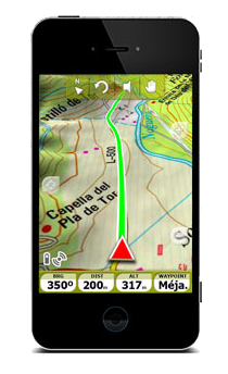 gps android avec carte ign
