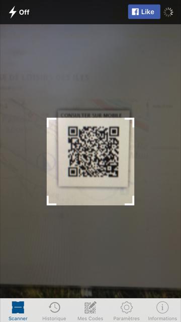 QR Code d'un parcours