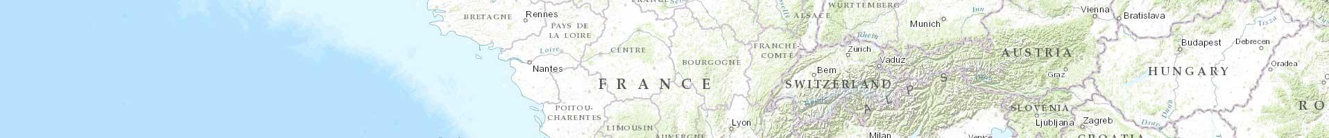 Carte topographique Monde / ESRI 1er niveau d'agrandissement