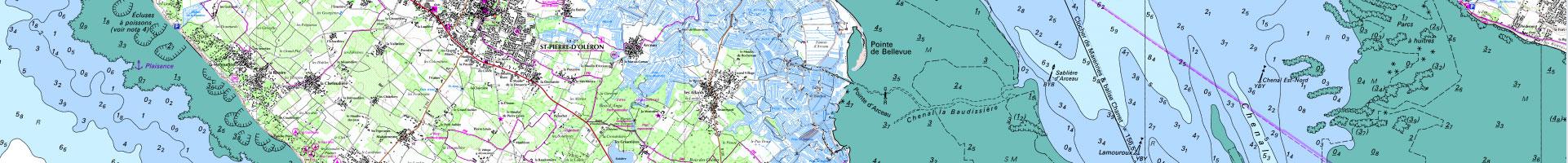 Carte littorale / SHOM / IGN 2e niveau d'agrandissement