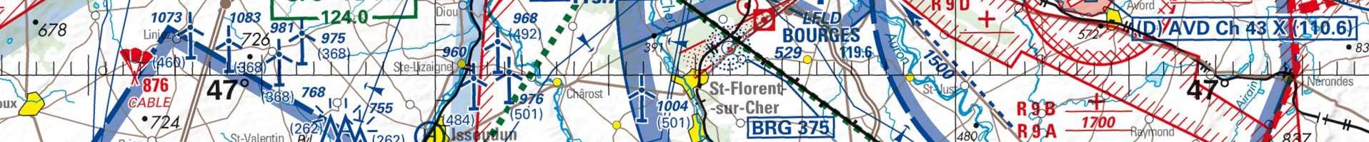 Carte aéronautique OACI / IGN 3e niveau d'agrandissement