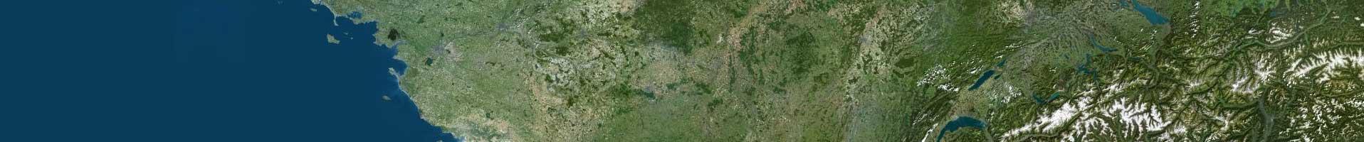 Photo aérienne IGN 1er niveau d'agrandissement